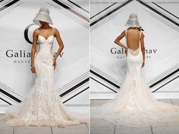 Galia Lahav Fall 2015 backless mermaid bridal dress with blush tulle skirt