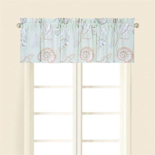 Breezy Shores Ocean Beach House Standard Curtain Valance 72 X 15 5