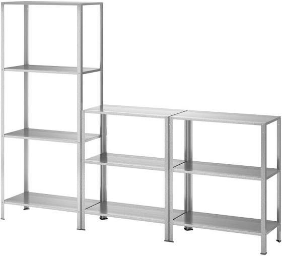 IKEA shelf with Transparent Cover; for indoors /& outdoors 180x27x74 cm