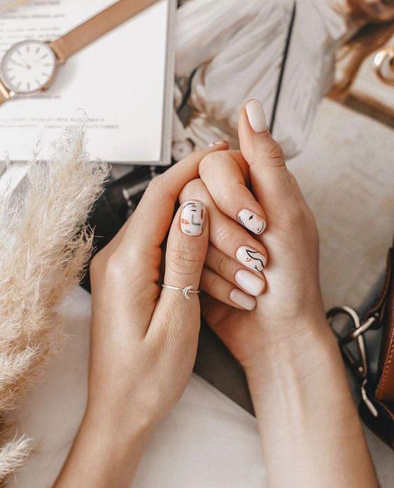 Cinco nail arts incríveis que você vai se apaixonar - Dose de Ilusão | Dose de Ilusão  #nail #nails #nailart #naildesigns #nailsofinstagram #nailsdesign #nailsart #nailsartdesign #nailsartdiy #nailsartideas #nailsdesign #unhas #unhasdecoradas #unhaslindas #unhasperfeitas #picasso #picassoart #picassonails