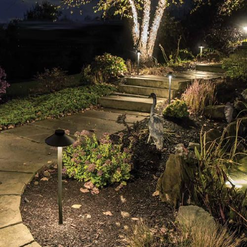 Path And Area Ideal For Illuminating Pathways Or Illuminating Flower Beds Wac Lighting Landscape Landscape Lighting Outdoor Lighting Led Landscape Lighting