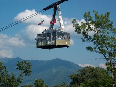Ober Gatlinburg aerial tramway. Actually, I've never been on this or to Ober Gatlinburg, but it's one of the familiar sights.