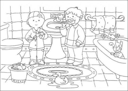 Modern And Clean Bathroom Coloring Page Cartoon Coloring Pages