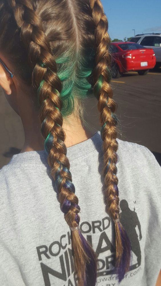 Ombre underneath hair colors
