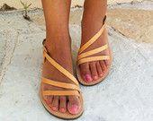 Leather sandals women, wedding sandals ,greek sandals