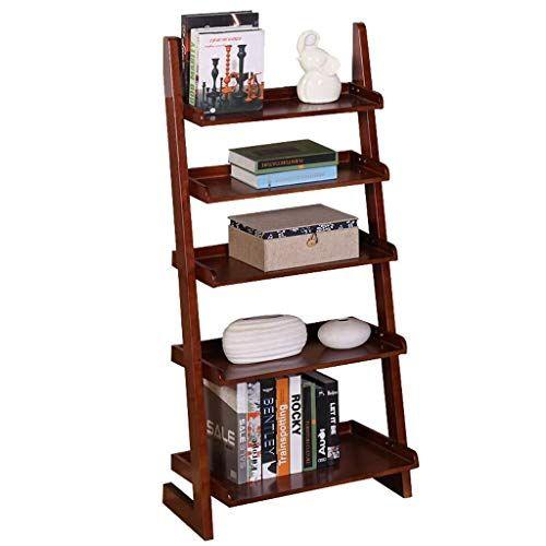 Yjlgryf Household Book Stand Bookshelf Shelf Floor To Wall Bookcase Trapezoidal Creative Five Story Shel Solid Wood Bookshelf Bookshelf Storage Wall Shelf Unit