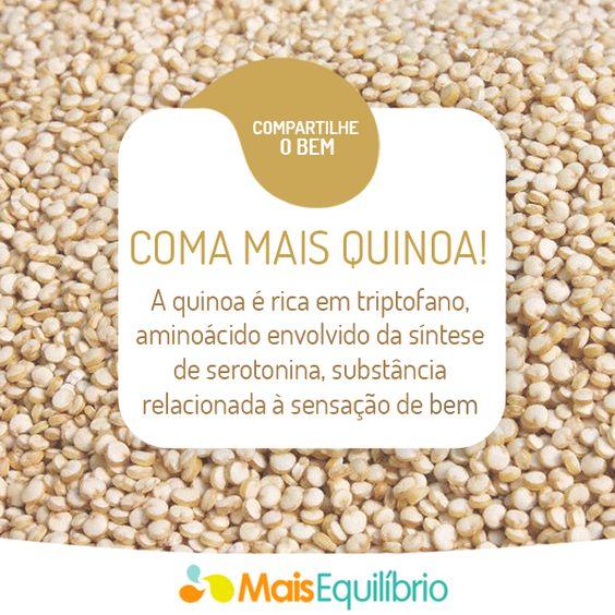 Inclua quinoa no seu cardápio! http://maisequilibrio.terra.com.br/quinoa-o-superalimento-2-1-1-102.html