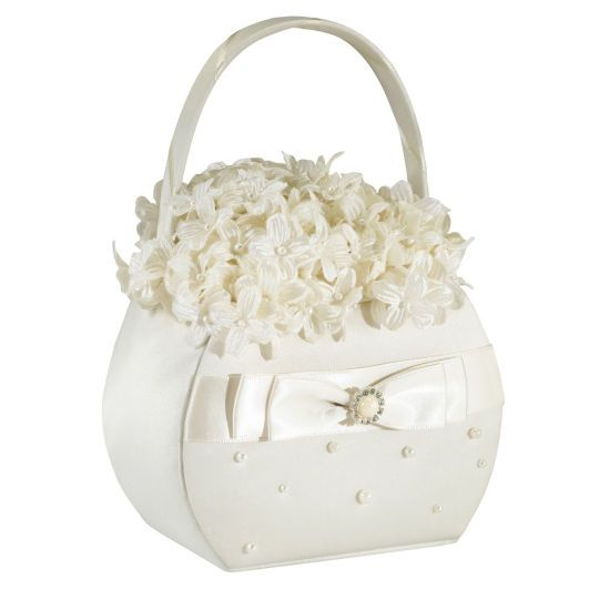 <div>Make your flower girl feel special with this pretty, little flower basket. Fill it with flo...