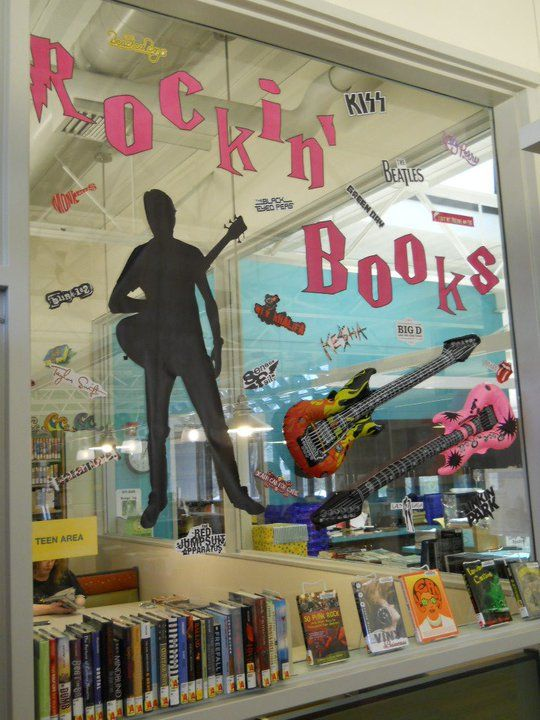 Teen Book Display - Rockin' Books: