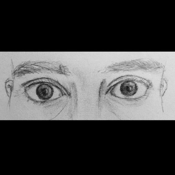 """""""Una mirada color infinito (tú me pones el estómago blandito) ~Calle 13 . #calle13 #songlyrics #bnw #💜 #inlove #lovers #blancoy negro #drawing #pencil #eyes:"""