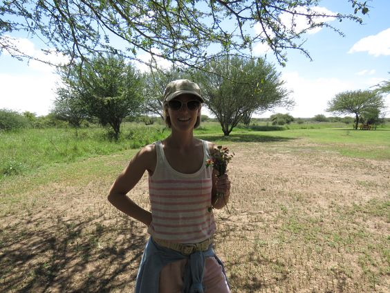Mrs. Deal picked some beautiful flowers while walking at Sosian, Laikipia, Kenya.
