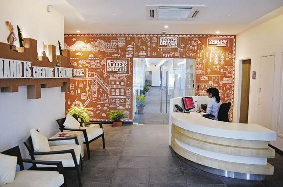 office design indian advertising agency mudras office space visit wwwinsideoutsidein advertising office space