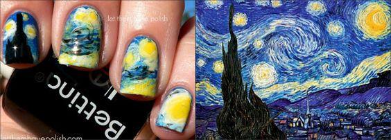 van Gogh-nails