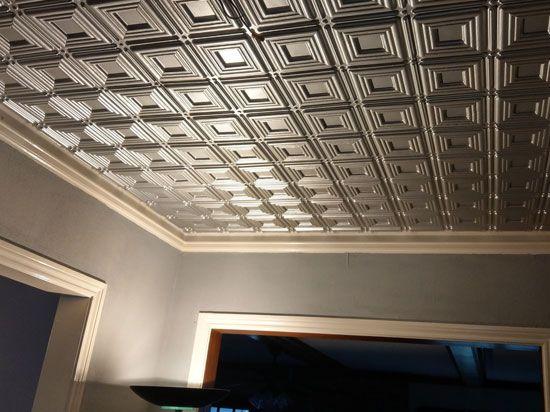 Dimensional Squares Faux Tin Ceiling Tile Glue Up 24 X24