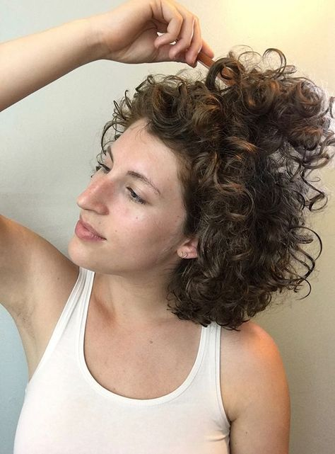 Curly hair: morning