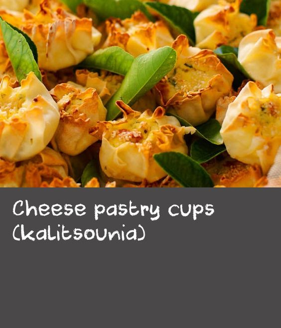 Cheese pastry cups (kalitsounia) | Freeze any leftover pastry discs spaced apart in single layers on a lined baking tray, separated by sheets of baking paper, and cover with plastic wrap.