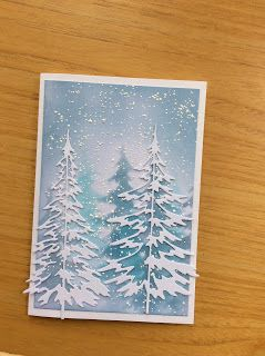 I've made a few Christmas cards to give me a head start on the busy season, plus a card I made for my niece to celebrate her wedding earlie...