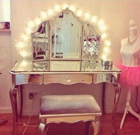 cute vanity idea w/mannequin  kids room  pinterest