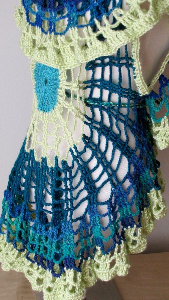 Crochet Dog Vest Free Pattern : Crochet vest pattern, Circles and Vest pattern on Pinterest