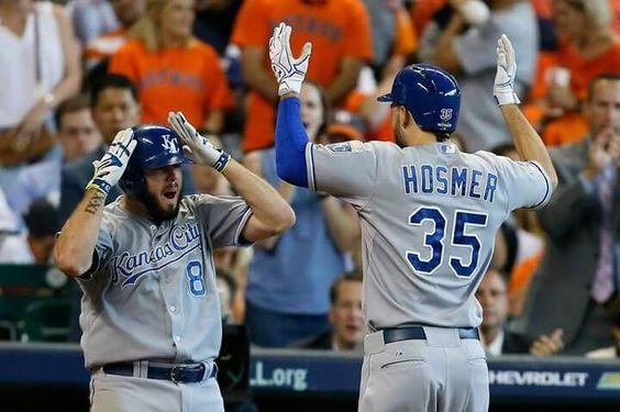 Celebrating Moose's 9th inning home run