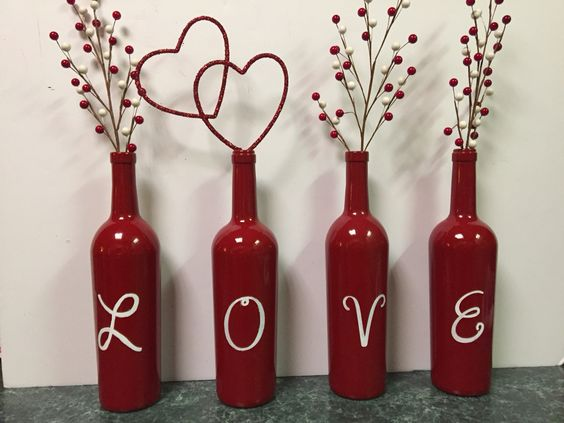 Valentine's Day Wine Bottles: