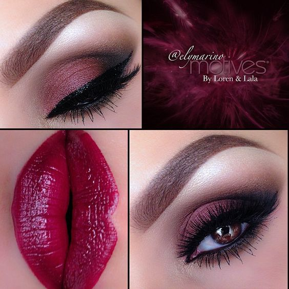 Winter trend is definitely dark sultry eyes and dark Burgundy and Cranberry colors-elymarino