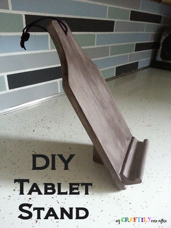 tablet stand and diy and crafts on pinterest. Black Bedroom Furniture Sets. Home Design Ideas