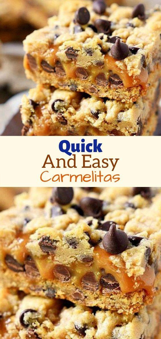 Quick And Easy Carmelitas In 2020 Chocolate Chip Cookie Dough Recipe Semi Sweet Chocolate Recipe Evaporated Milk Recipes