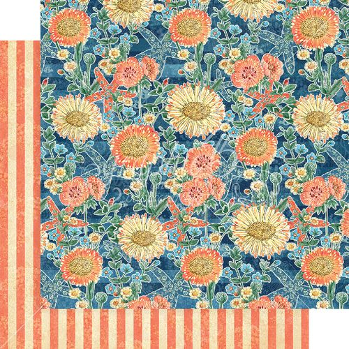 2 Graphic45 FLOATING FLORAL 12x12 Dbl-Sided scrapbooking papers