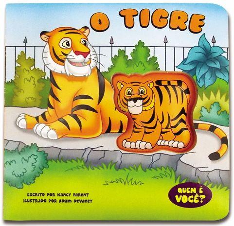 Livro Aperta e Apita - O Tigre - por The Clever Factory | As crianças vão se divertir com este livro sonoro enquanto apertam o bichinho que interage com a história!