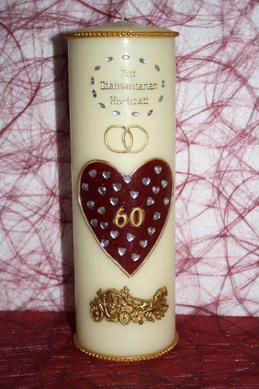 Kerze Diamanthochzeit Dh 01 Geschenke Fur Mama Geschenke Diamantene Hochzeit