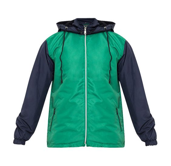 Stay dry with Tolliver Rain Coat With Hoodie Ii. Two tone color rain coat, with green and blue color, this rain coat jacket made from polyester, long sleeve, front zipper, front pocket, simple jacket with a modern touch, perfect for running and everyday use. http://www.zocko.com/z/JJVop