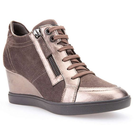 BuyGeox Eleni Wedge Heeled Trainers, Chestnut, 3 Online at johnlewis.com