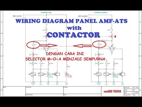 Wiring Diagram Panel Amf Ats With Contactor Youtube Diagram Teknik Penekanan