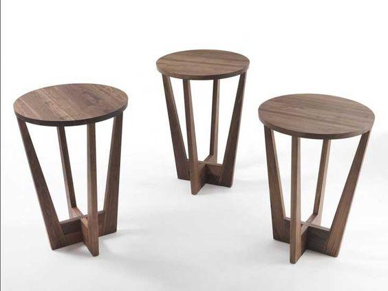 ... wohnzimmer Möbel kleine beistelltische holz runde walnuss mit neueste