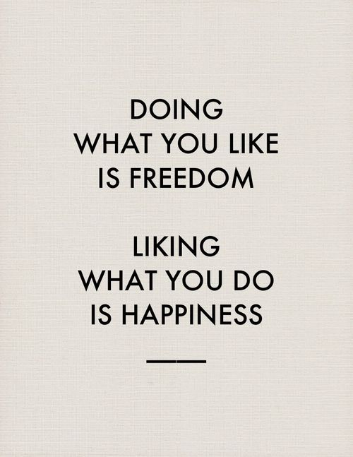 Freedom and happiness