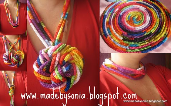Vibrant colorful necklace