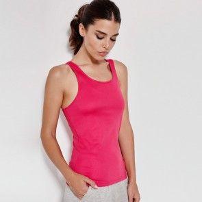 Camiseta deportiva Shura 0349 Roly Mujer con Sisa y Escote Ribeteado