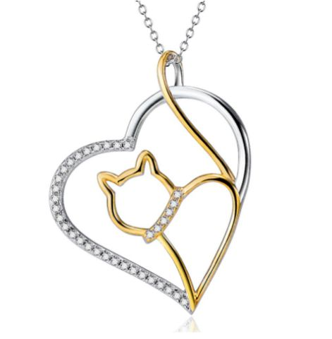 Love heat cat necklace, adorable! #catlovers