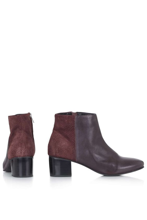 Photo 4 of BENNET Suede Mix Ankle Boots