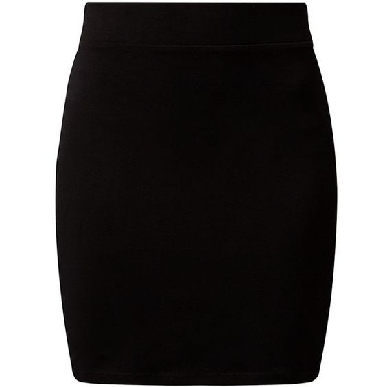 Black High Waisted Tube Skirt ($5.92) ❤ liked on Polyvore ...
