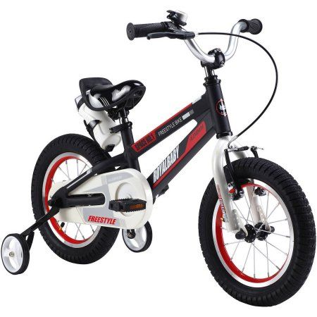 Royalbaby Space No. 1 Kids' Bike, Perfect Gift for Kids, 12 inch wheels, Red, Black