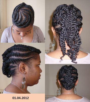 flat twist cheveux crépus - Recherche Google