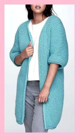 Fonkelnieuw Gratis breipatroon voor eenvoudige ribbelsteek minimalistische jas VE-38