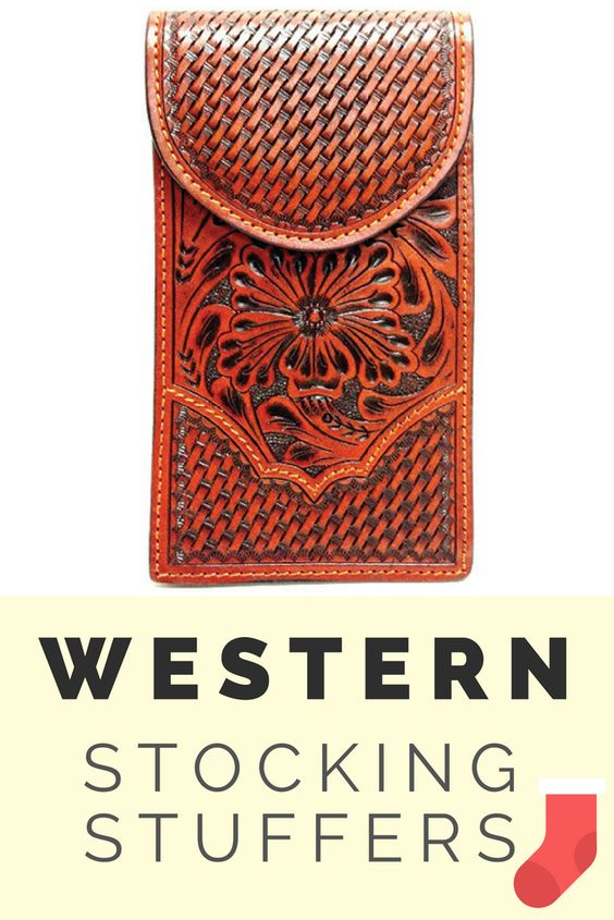 Western Tan Floral Tooled/Basketweave Cell Phone Holder for Samsung Notebook II and III