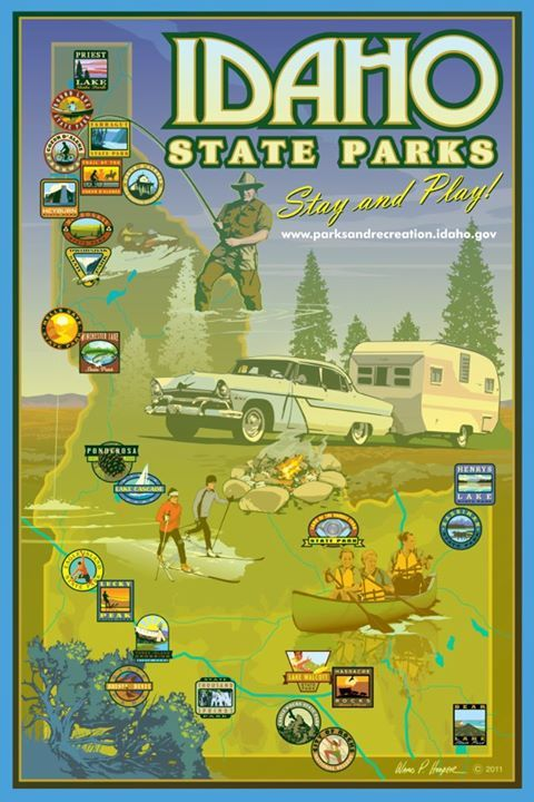 Map of Idahos state parks httpparksandrecreationidahogovfind