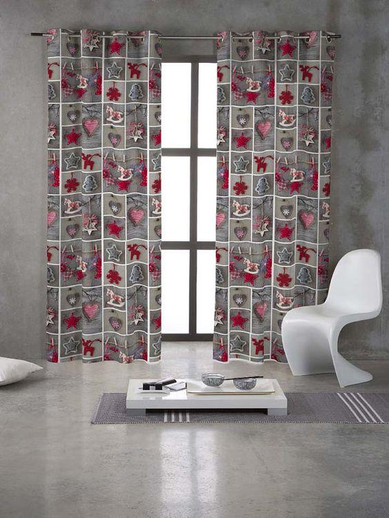 Curtains Ideas christmas curtain fabric : LOVE Christmas Festive Fabric DIGITAL Cotton upholstery, crafts ...