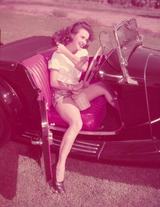 Kathleen Crowley (via Vintage Cars and Girls)