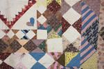 A Victorian patchwork quilt  - looks like Welsh quilting