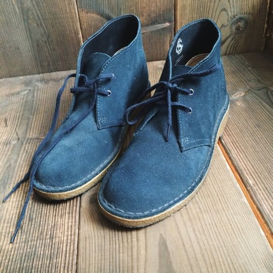 clarks desert boot in midnight blue w comfortable sturdy desert boot from clarks in deep. Black Bedroom Furniture Sets. Home Design Ideas